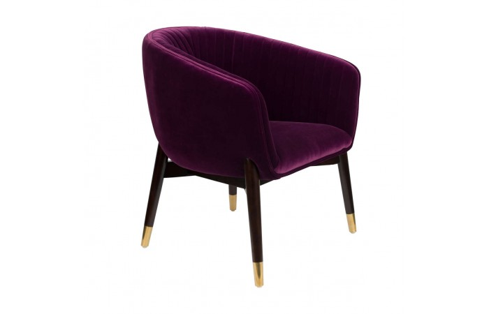 Fotel Lounge Dolly, fioletowy